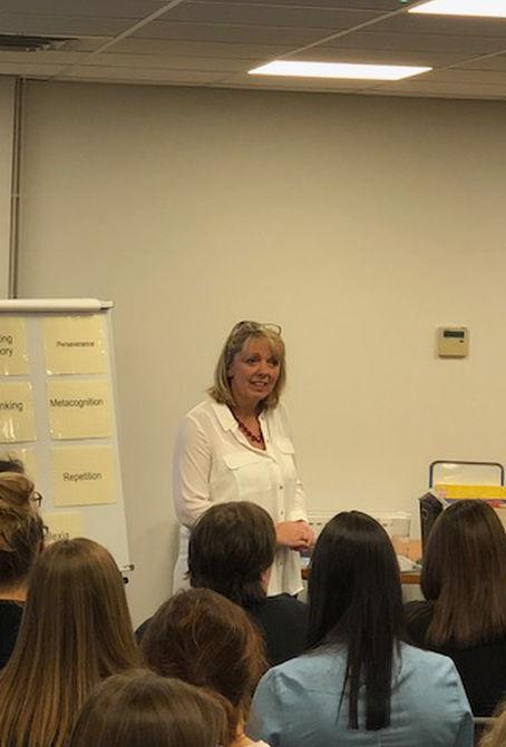 Sharon Hall presenting
